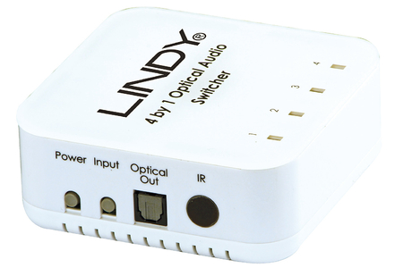 Switch Audio Digitale Toslink SPDIF Remote, 4 Porte