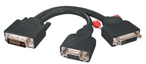 Cavo Splitter DVI-I / VGA & DVI-D Dual Link, Nero