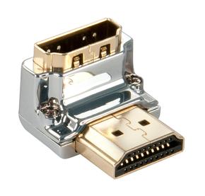 "Adattatore HDMI CROMO Tipo A M/F a 90 gradi ""Giù"""