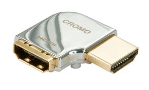 """Adattatore HDMI CROMO Tipo A M/F a 90 gradi """"Destra"""""""