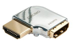"""Adattatore HDMI CROMO Tipo A M/F a 90 gradi """"Sinistra"""""""