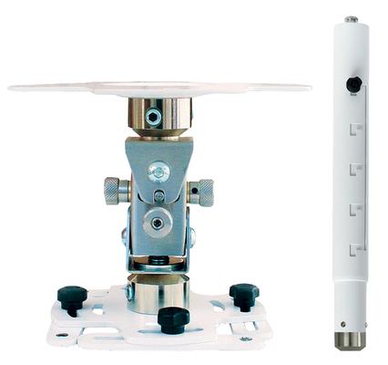 """Supporto professionale per videoproiettore """"Arakno-mini"""" con regolazione micrometrica 83/123cm (bianco)"""