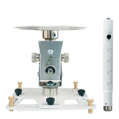 """Supporto professionale per videoproiettore """"Arakno"""" con regolazione micrometrica 131/196cm (bianco)"""