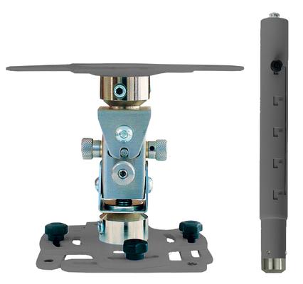 """Supporto professionale per videoproiettore """"Arakno-mini"""" con regolazione micrometrica 57/77cm (silver)"""