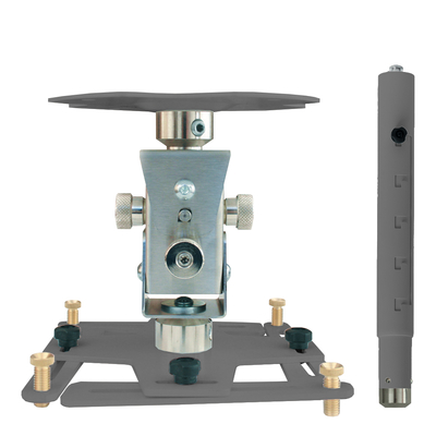 """Supporto professionale per videoproiettore """"Arakno"""" con regolazione micrometrica 86/126cm (silver)"""