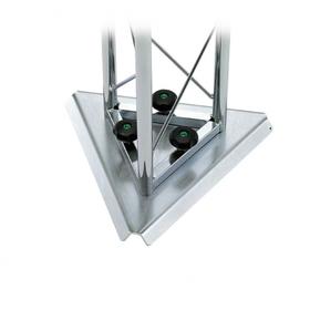 Base triangolare lamiera zincata bianca, 35cm