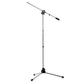 Asta microfonica con braccio, verniciatura grigio cromato