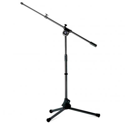 Asta microfonica mini con braccio, verniciatura nera