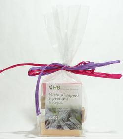 confezione regalocontiene 4 saponette mix da 100gr cad