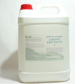 5 litri Detersivo piatti concentrato, contiene tensioattivi di origine naturale.