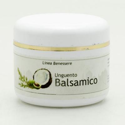 L'unguento balsamico a rilascio lento di principi attivi è indicato per chi soffre di tosse e raffreddore, aiuta a trovare giovamento nel sonno facilitando la respirazione e calmando la tosse.