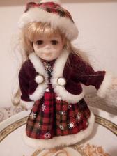 Bambola da collezione in pura ceramica oggetto di arte antiq