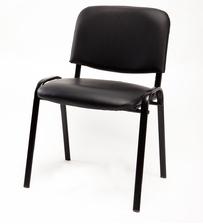 Sedie per ufficio sala d'attesa ecopelle nera
