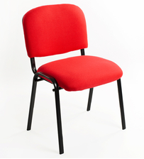 Sedie Conferenza o per sala d'attesa tessuto rosse