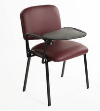 Sedie con tavolino ribaltabile - ecopelle bordeaux
