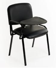 Sedie riunione ecopelle nera + Ribaltina scrittoio