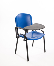Sedie convegni con ribaltina in plastica blu