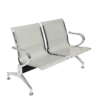 Sedie da attesa in acciaio – NUOVE – 2 posti