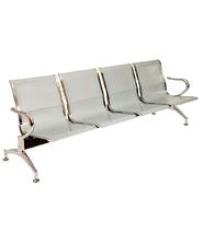 Sedie da attesa in acciaio – NUOVE – 4 posti