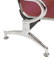 Sedie da attesa in acciaio colore rosso 5 posti
