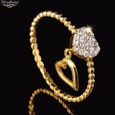Anello d'oro con cuore