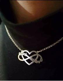Collana cuore infinito personalizzato