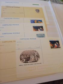 Cartoline postali di vario tipo anche con francobollo in stoffa