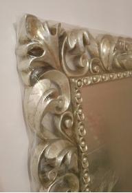Specchiera in foglia d'argento